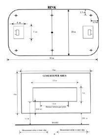 floorball size 6v6 bane